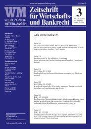 RECHT Titel 3.pmd - WM Wirtschafts- und Bankrecht