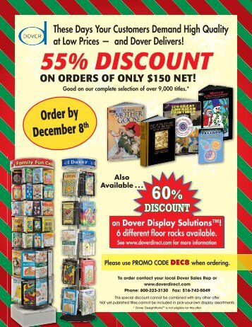 55 Discount Sell Sheet.indd - Dover Publications