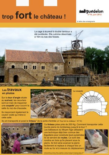 """Trop fort le château !"" N°19 (PDF - 470 Ko) - Guédelon"