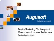 Best eMarketing Techniques to Reach Your Lumens ... - Augusoft