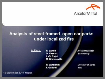 Analysis of steel-framed open car parks under localized fire