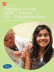 GlaxoSmithKline 13th Annual IMPACT Awards profile booklet