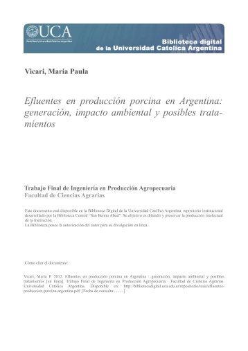 Efluentes en producción porcina en Argentina - Biblioteca Digital ...