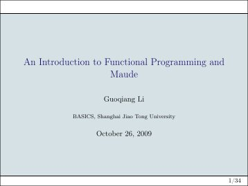 An Introduction to Functional Programming and Maude