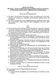 Statuten des Vereins Wir Haager – Verein für Stadterneuerung und ...