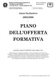 PIANO DELL'OFFERTA FORMATIVA - Istituto Calvino