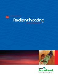 Radiant heating - ComfortPro Systems