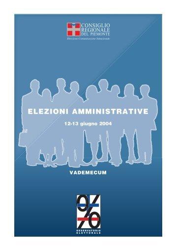 Elezioni Amministrative 12-13 GIUGNO 2004 - Vademecum
