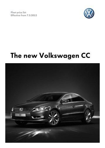 The new Volkswagen CC - VW Passat