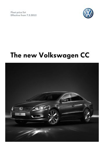 The new Volkswagen CC - VW Passat