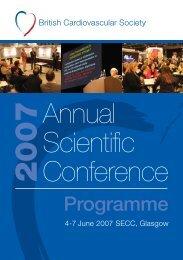 Programme - British Cardiovascular Society