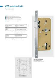 CES mortise locks Series 77