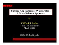 Surface Application of Wastewater – A Mass Balance Approach
