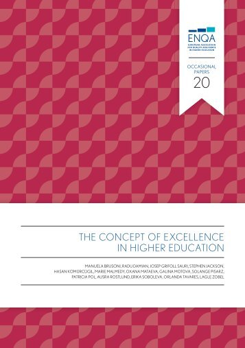 ENQA Excellence WG Report_The Concept of Excellence in Higher Education