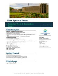printable venue - Global Spectrum