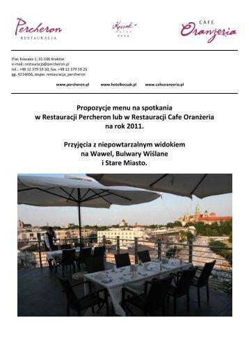 Propozycje menu na spotkania w Restauracji ... - Hotel Kossak