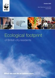 Ecological footprint - WWF UK