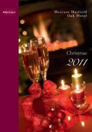 Christmas Lunches - Mercure Hatfield Hotel