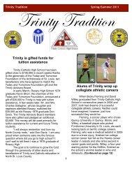 Alums of Trinity wrap up collegiate athletic careers - Trinity Catholic ...