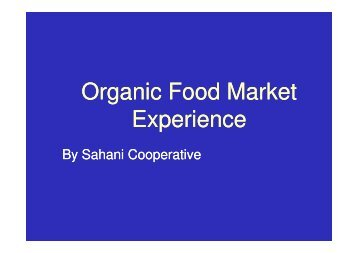 Organic Food Market Experience