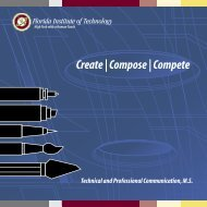 Create | Compose | Compete - Florida Institute of Technology