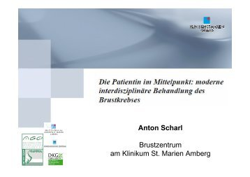 Prof. Scharl - Die Patientin im Mittelpunkt - Tumorzentrum ...
