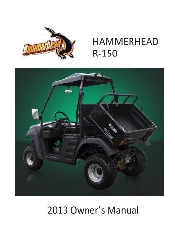 R-150 – Owners Manual - Hammerhead Off-Road