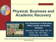 Physical, Business, and Academic - Readiness and Emergency ...