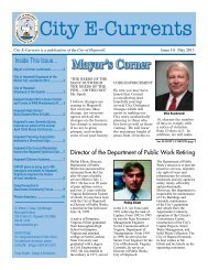 E-Currents 05-2013 - the City of Hopewell Virginia