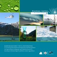 Bjerknes Centre - Bjerknessenteret for klimaforskning - Universitetet ...