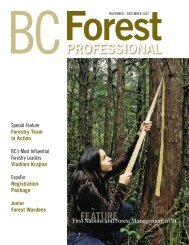 First Nations and Forest Management in BC Nov/Dec 2007