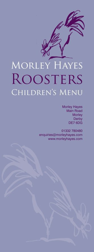 childrens menu August 2011.indd - Morley Hayes