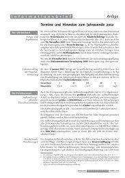 Termine und Hinweise zum Jahresende 2012 Anlage I ...
