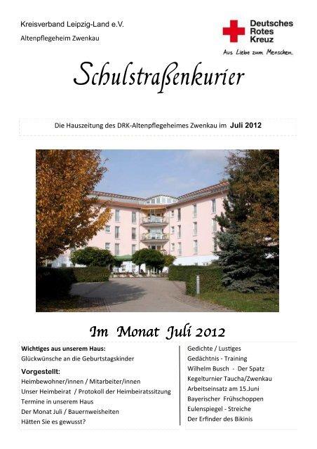 Schulstrassenkurier Zwenkau Juli 2012 Drk Kreisverband