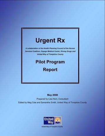 Urgent Rx Pilot Program Report - Human Services Coalition of ...