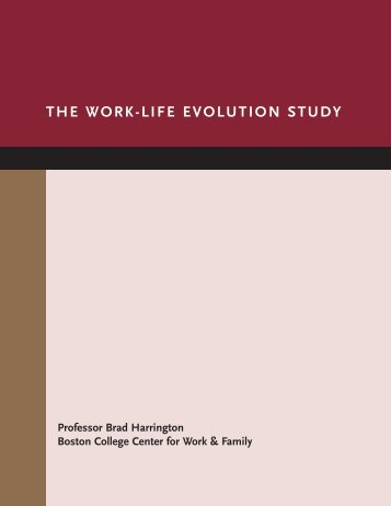 The Work-Life Evolution Study - Personal Web Server - Boston ...