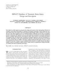 IMPACT Database of Traumatic Brain Injury ... - TBI-IMPACT.org