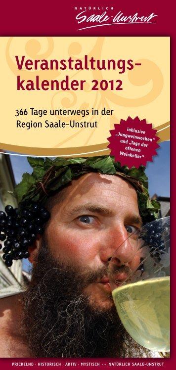 Veranstaltungs- kalender 2012 - Saale-Unstrut-Tourismus e.V.