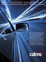 Download the CALMS 2 Automotive Captive Finance Leaflet here