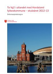 Skoletilbod i utlandet 2012 (pdf) - Hordaland fylkeskommune