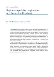 Regionalna politika i regionalne nejednakosti u Hrvatskoj