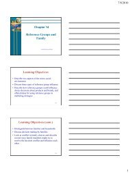 Reference Groups and Family Learning Objectives Learning ...