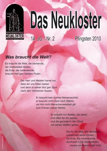 14. JG. / Nr. 2 Pfingsten 2010 - Neukloster