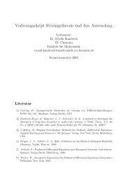 Vorlesungsskript Störungstheorie und ihre Anwendung - TU Chemnitz