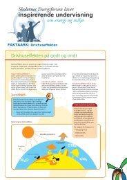 Faktaark om drivhuseffekten - Energitjenesten