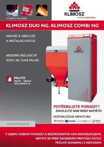 Návod k obsluze a instalaci kotle Klimosz Duo, Klimosz ... - NetNews