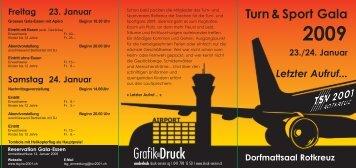 GrafikDruck - Turn- und Sportgala