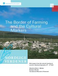 The Border of Farming and the Cultural Markers - Nordlige Verdener