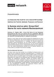eco Datacenter Star Audit für noris network RZ3 bestätigt Optimium ...