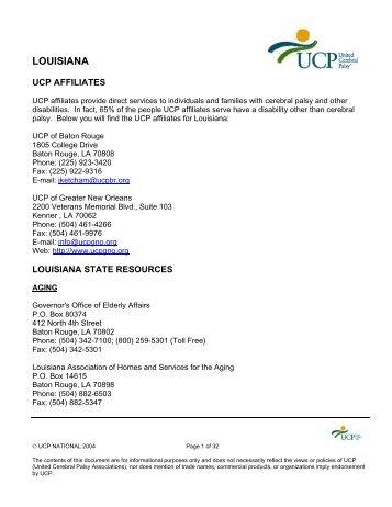 LOUISIANA - To Ucp.org - United Cerebral Palsy